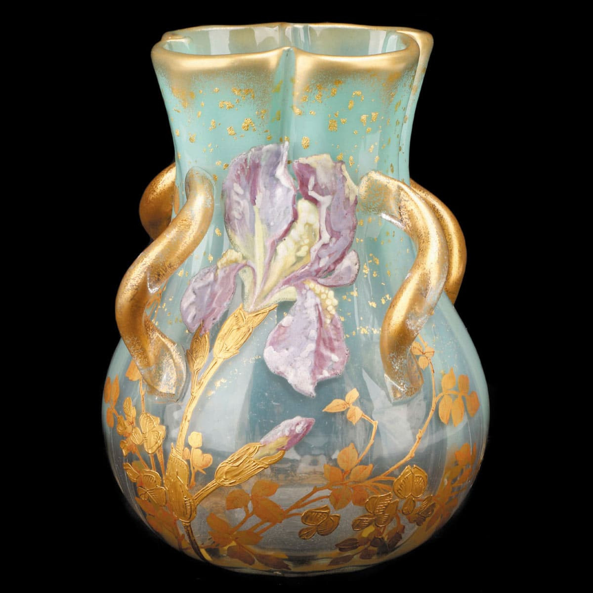 Galle Cameo Glass Vase Of Glass Crystal with Unique Late 19th C Mont Joye Vase Ahlers Ogletree Auction Gallery