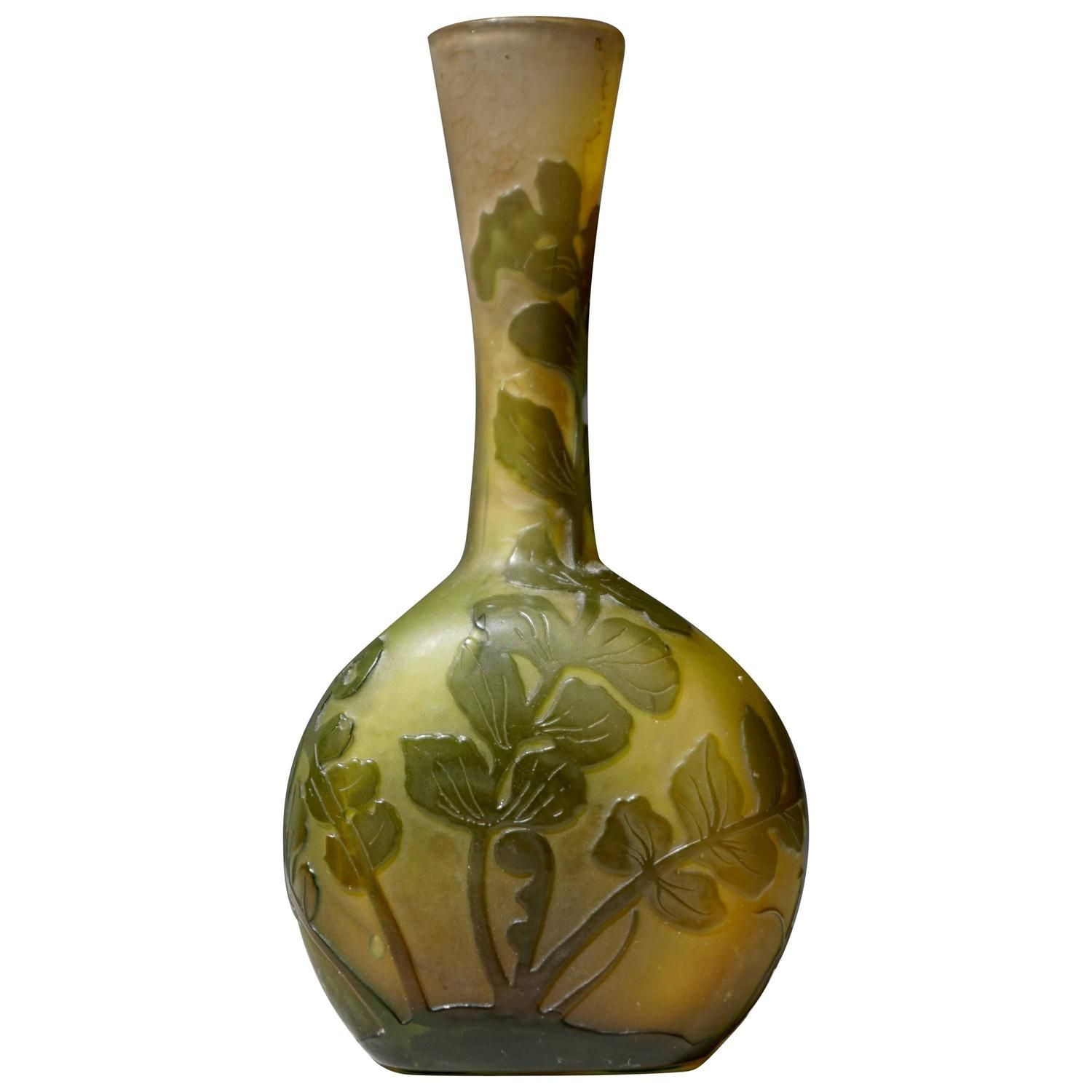 galle vase for sale of emile galla french art nouveau cameo glass vase french art with regard to emile galla french art nouveau cameo glass vase 1stdibs com