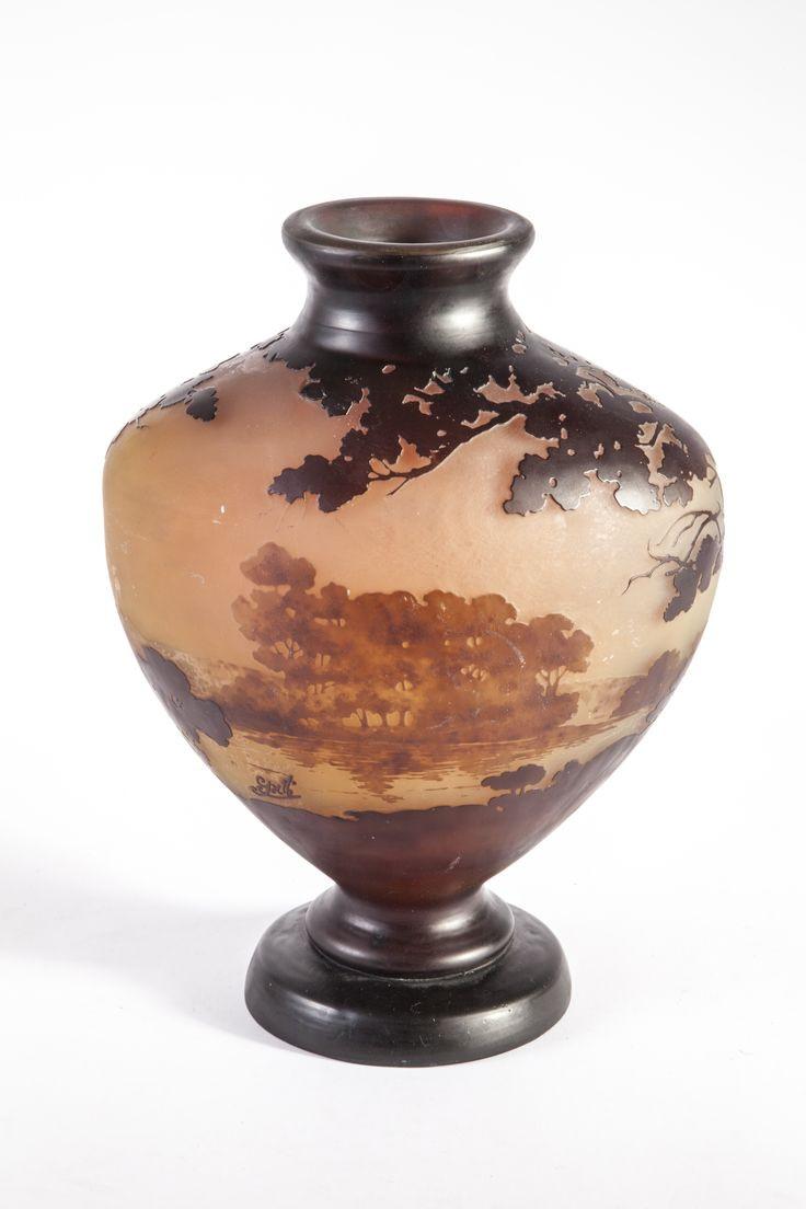 galle vase value of 693 best emile galle images on pinterest art nouveau glass art with regard to galle vase a corps ovoa¯de sur talon et col ourla epreuve en verre blanc