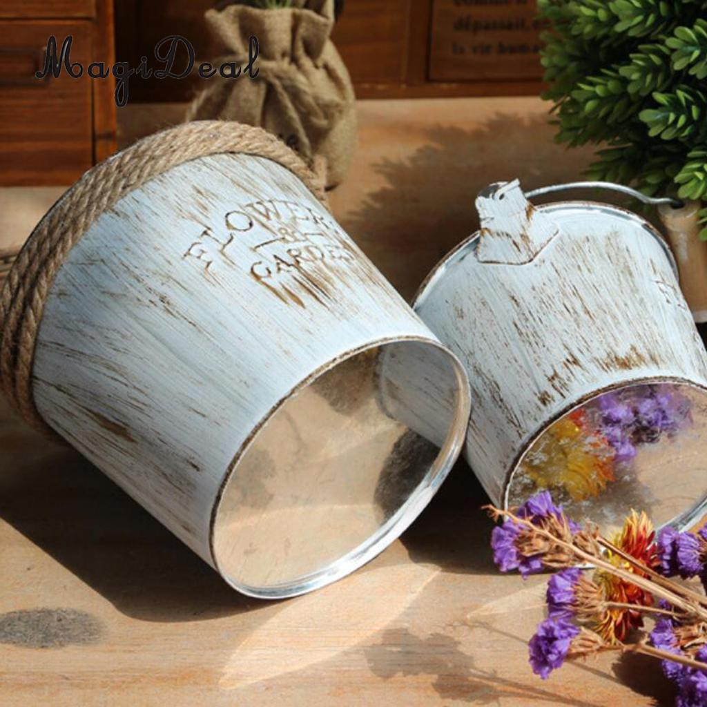Galvanised Flower Vase Of 3 Pieces Shabby Chic Galvanised Iron Flower Plants Pot Bucket Flower with 3 Pieces Shabby Chic Galvanised Iron Flower Plants Pot Bucket Flower Vase In Flower Pots Planters From Home Garden On Aliexpress Com Alibaba Group