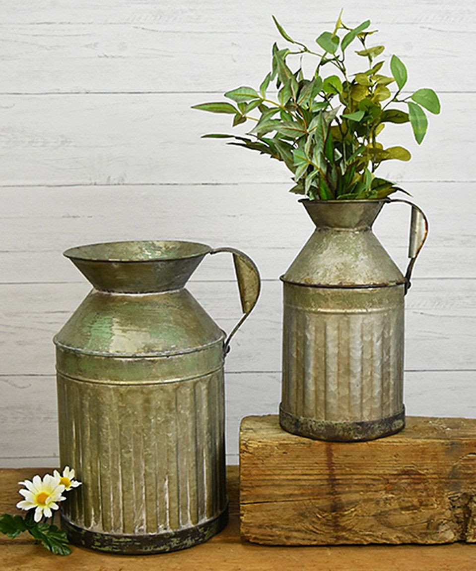 Galvanised Flower Vase Of Galvanized Flower Vase Image Galvanized Hanging Bucket Things to Buy Pertaining to Galvanized Flower Vase Collection Take A Look at This Galvanized Tin Milk Cans today Of Galvanized