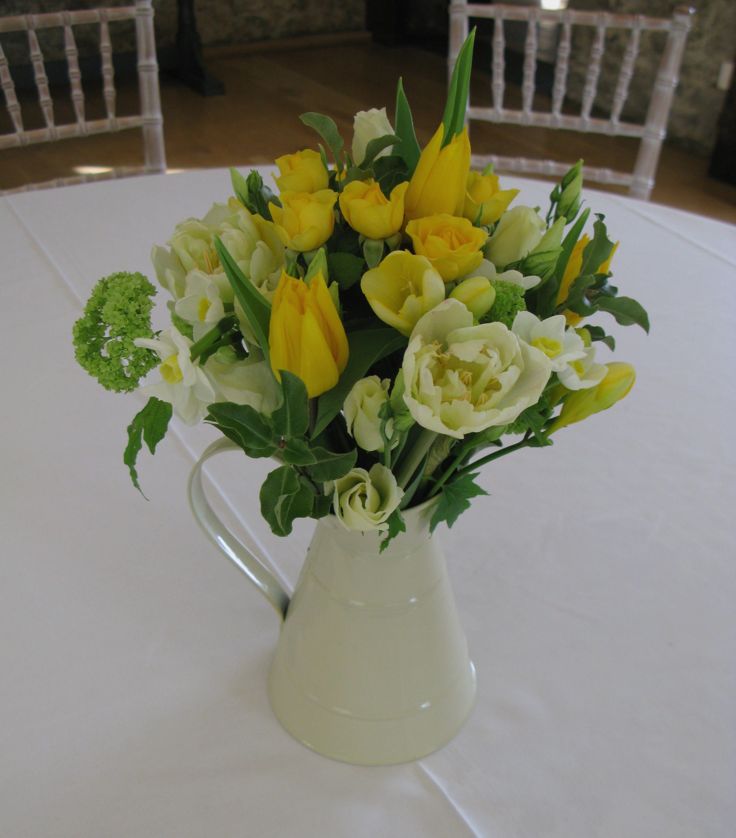 Galvanised Flower Vase Of Mini Cream Jugs Make Simple Decorations the Jugs Can Be Hired Pertaining to Mini Cream Jugs Make Simple Decorations the Jugs Can Be Hired