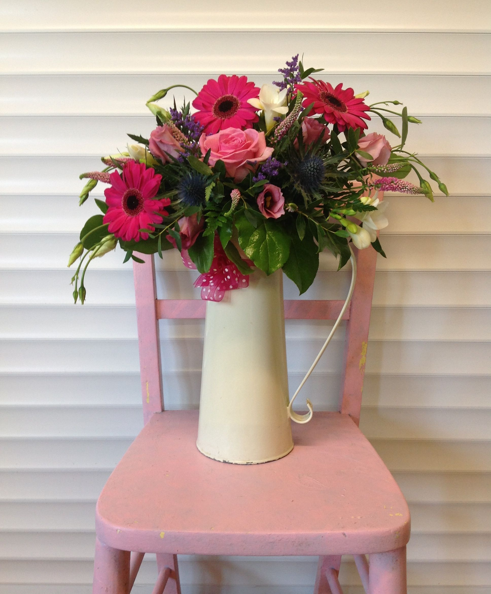 Galvanised Flower Vase Of Vintage Cream Jug Flowers Decoration Ideas Pinterest Wedding In Vintage Cream Jug Flowers