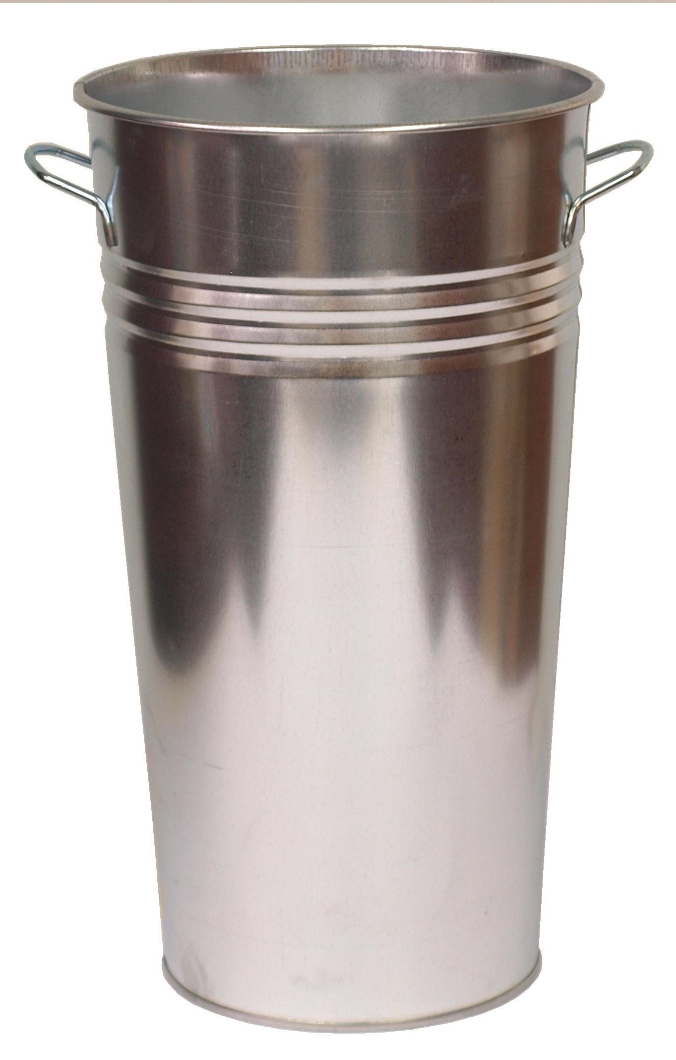 galvanized sheet metal vase of houston international trading galvanized vase rustproof galvanized within houston international trading galvanized vase rustproof galvanized steel great for fresh cut flowers and