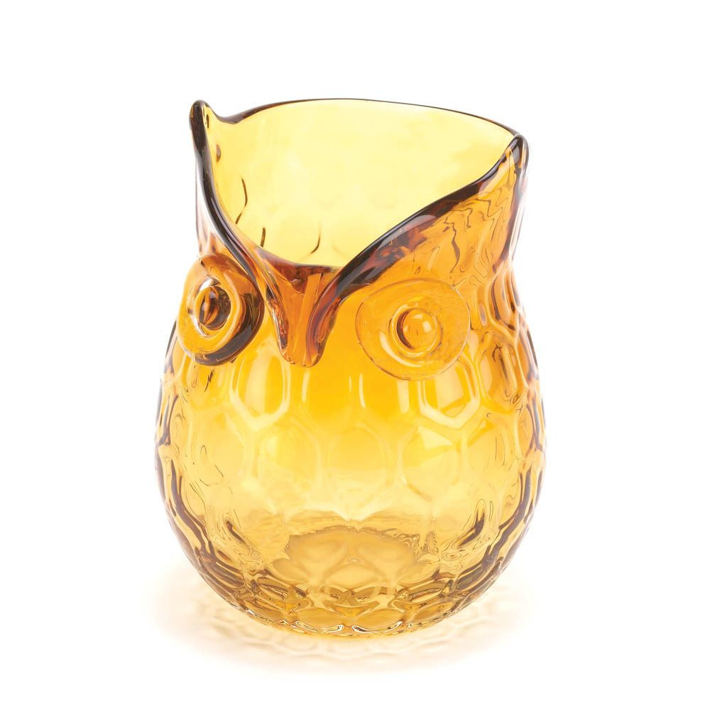 geometric glass vase of amber pop owl vase decorative glass vases pinterest decorative with vases and accents amber pop owl vase alittle bit of geometric pattern a lot of that undeniable owl charm and a whole lot of style