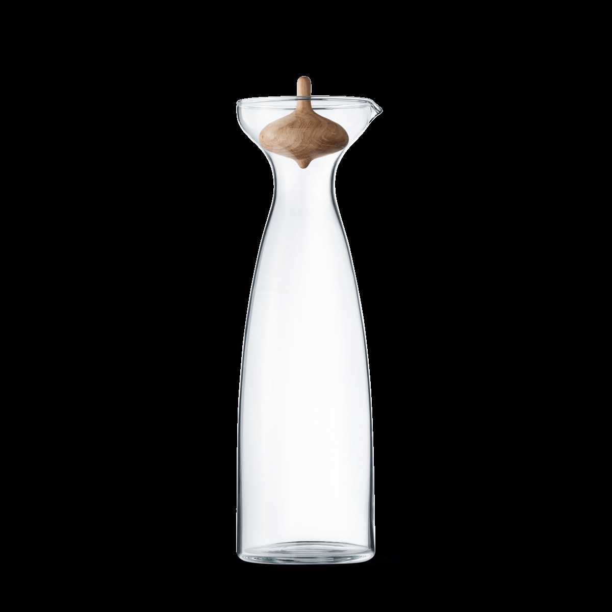 Georg Jensen Alfredo Vase Of Alfredo Carafe 1l In Glass with Carved Oak Stopper Georg Jensen Throughout Pack 3586205 1200 0