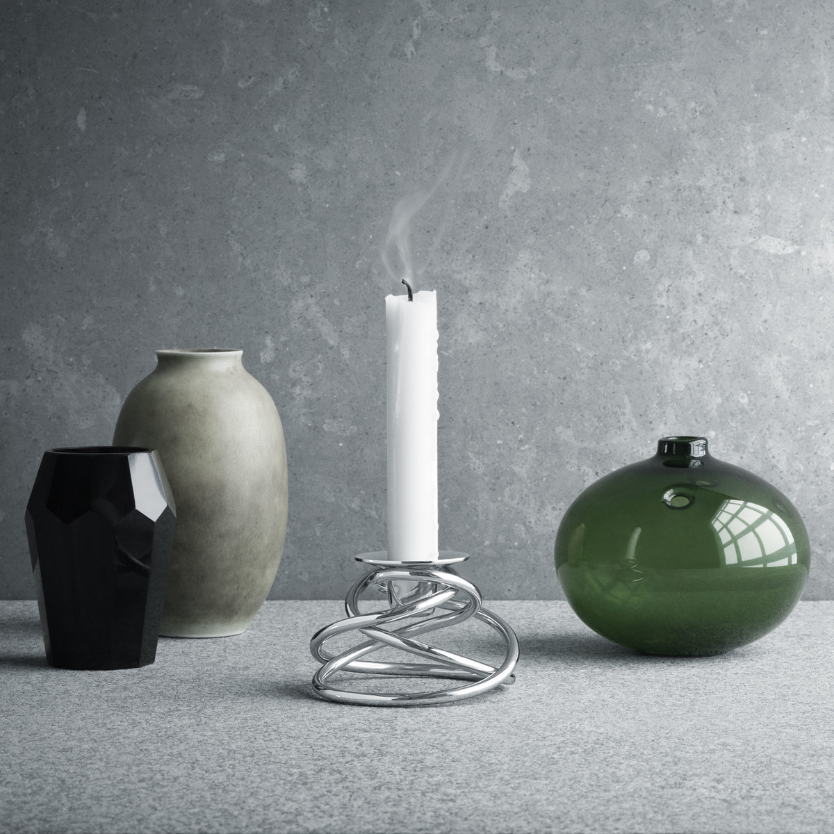Georg Jensen Living Vase Of Glow Candleholder by Georg Jensen In the Shop Regarding Georg Jensen Glow Candleholder with Vases