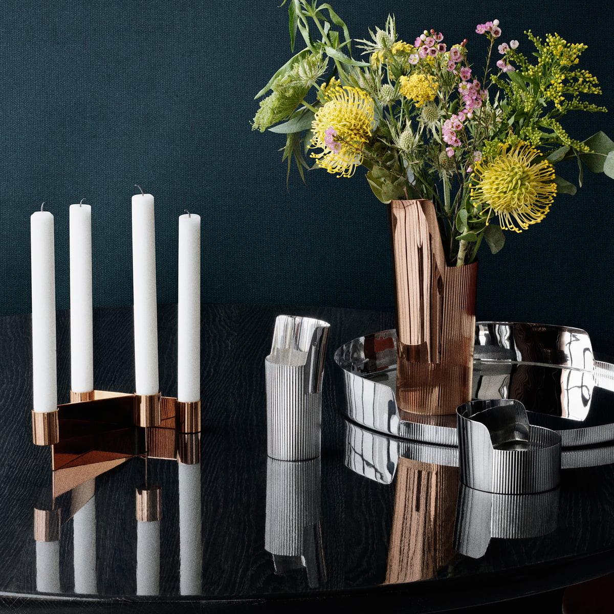 george jensen vase of urkiola candlesticks by georg jensen in the shop in the diversity of the urkiola collection a· georg jensen