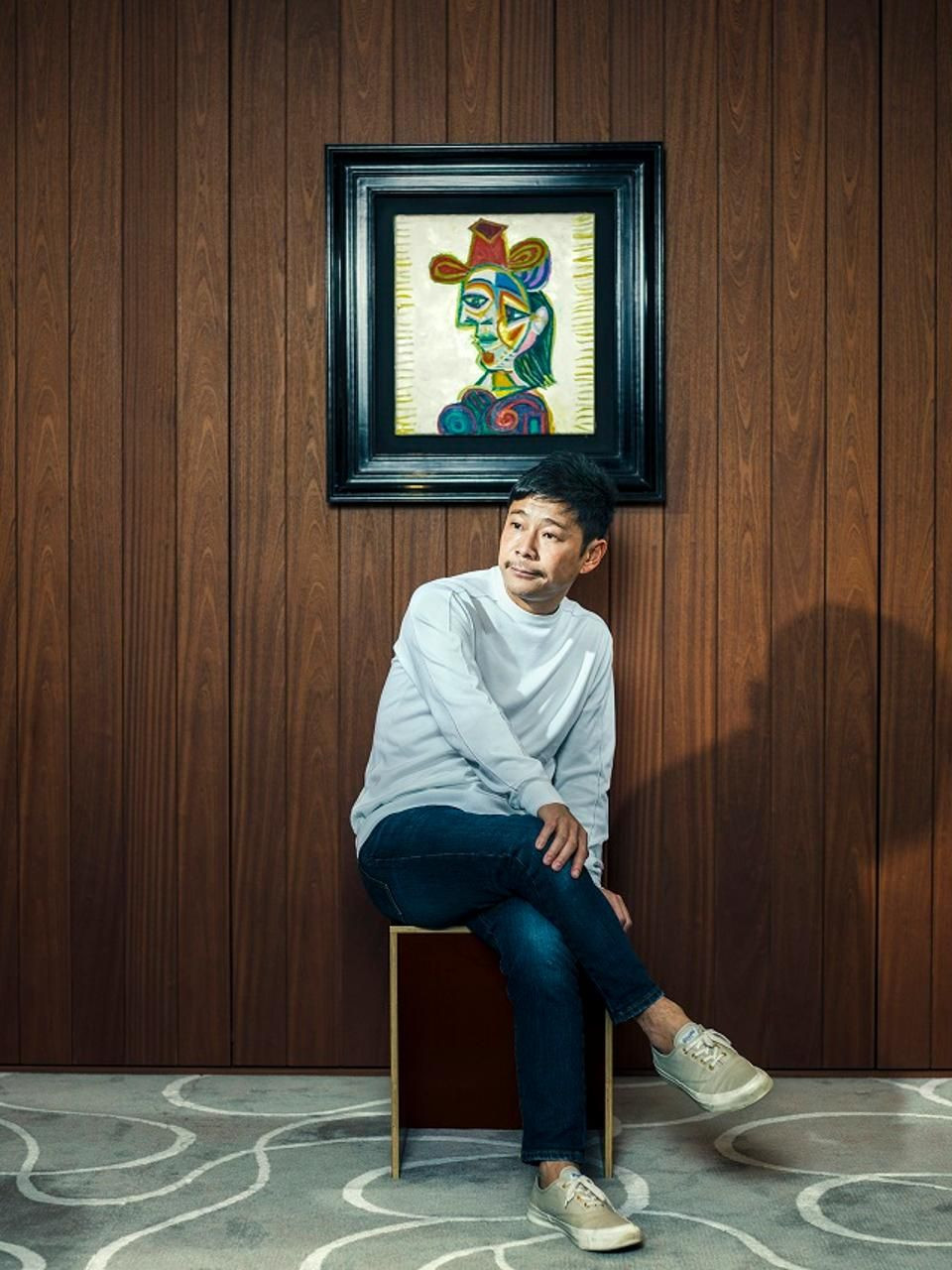 giant dora maar vase of japanese billionaire yusaku maezawa on why hes buying big name art for yusaku maezawa with his new picasso painting buste de femme dora maar