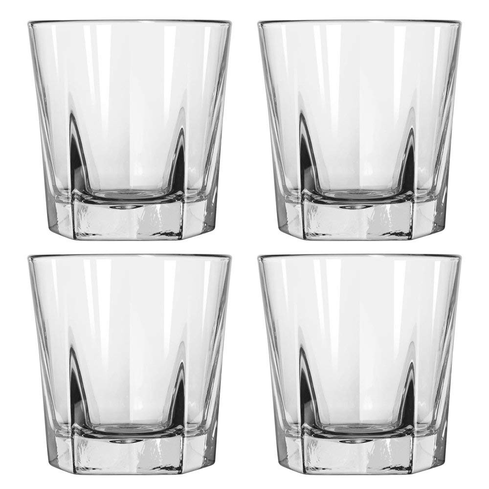 giant glass brandy snifter vase of amazon com double old fashioned rocks whiskey scotch glasses 12 oz for amazon com double old fashioned rocks whiskey scotch glasses 12 oz set of 4 heavy base elegant barware old fashioned glasses