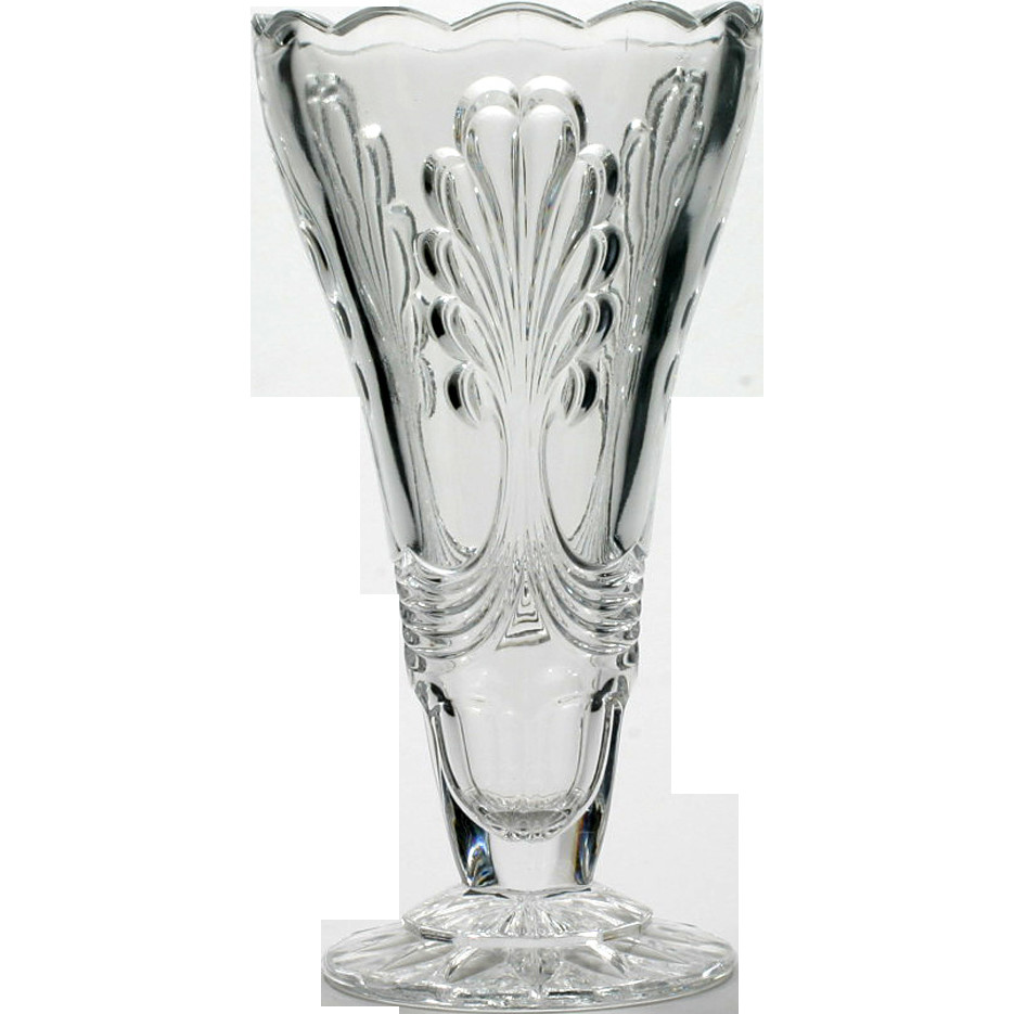 giant martini glass vase of vintage art deco glass vase pressed crystal european large vaasi for art deco elegance at its finest vintage art deco pressed crystal glass vase located in the ruby lane shop catisfactions glass gallery