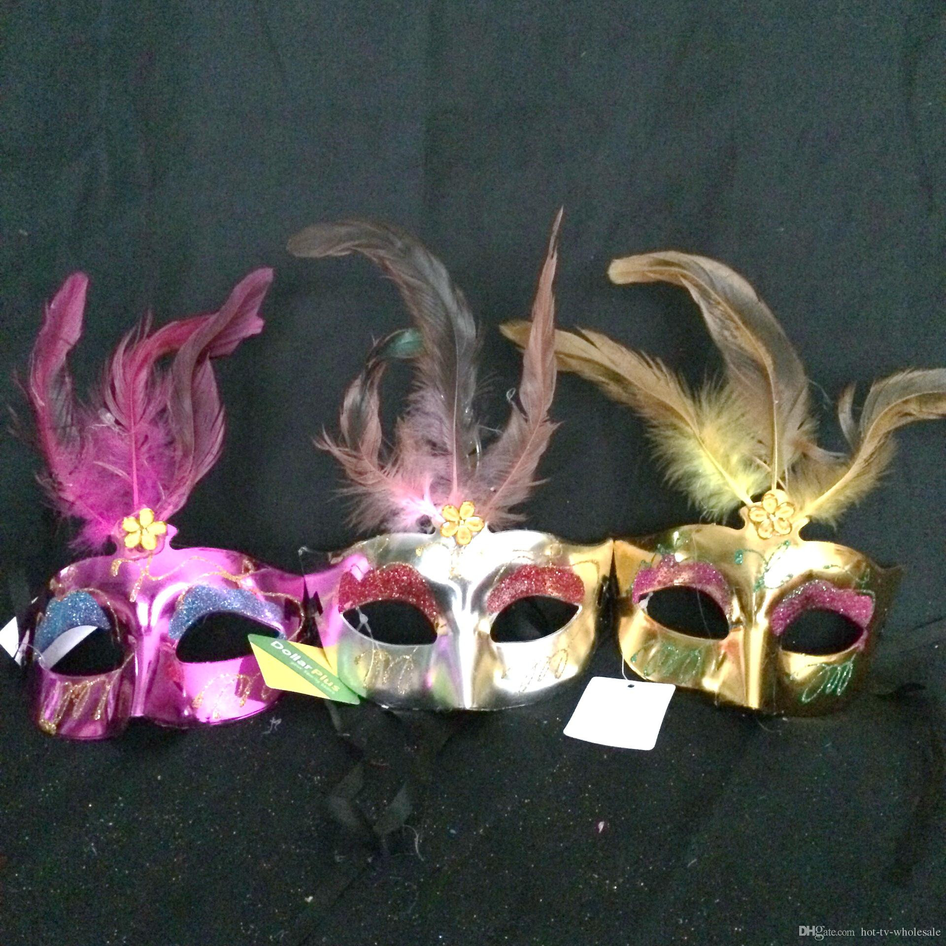 Ginger Vases wholesale Of 2016 Hot Sales Women Spray Paint Crystal Feather Mask Venetian Party Pertaining to Party Decoration Carnival Mardi Gras Bar Prop Wedding Gift Crystal Feather Mask Girl Mask Party Mask Online with 1 12 Piece On Hot Tv wholesales Store