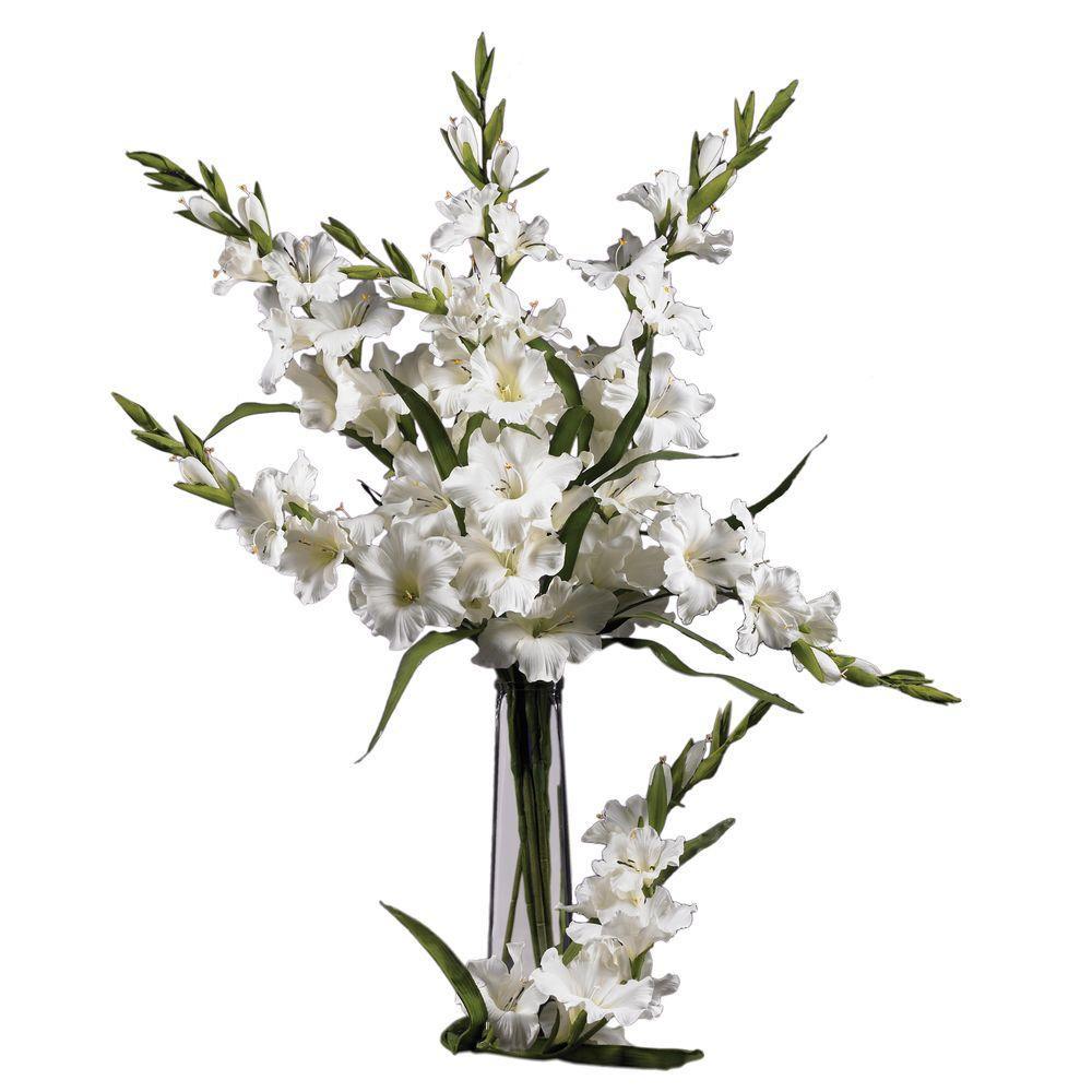 gladiolus vase for sale of 36 in h white gladiola stem set of 12 2122 wh the home depot inside h white gladiola stem set of 12