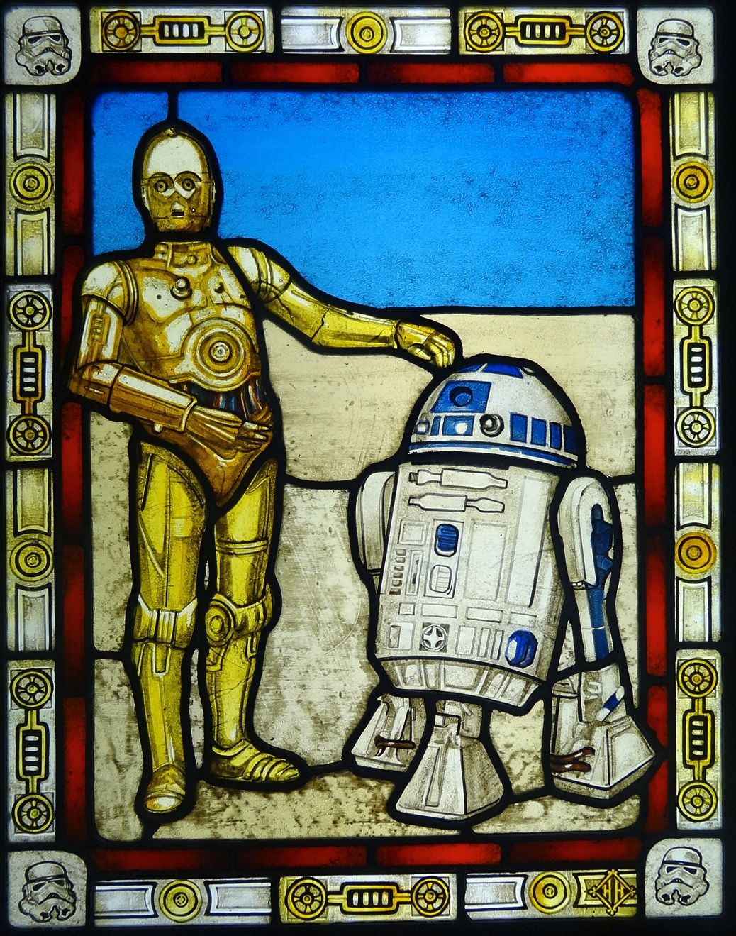 glass baby block vase of hand made star wars stained glass by haeuser heil studios within star wars stained glass