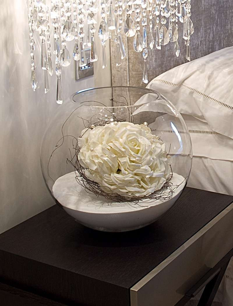 Glass Bubble Fish Bowl Vase Of Artificial Flowers In Fishbowl Vase Vase Pinterest Flowers In Artificial Flowers In Fishbowl Vase