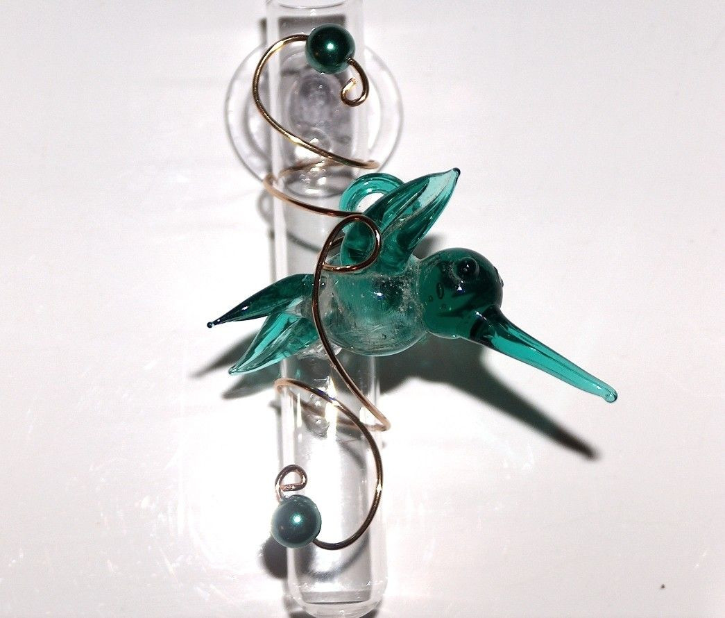 Glass Bud Vase Tubes Of Hummingbird Handcrafted Glass Hanging Window Bud Vase with Suction Intended for Handcrafted Glass Hanging Window Bud Vase with Suction Cup Wired Glass Hummingbird Rooter 14 00 Via Etsy