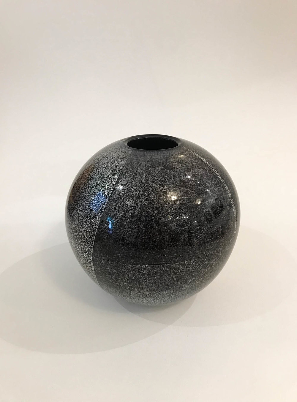 glass cylinder vase 12 x 5 of david benyosef 13forest gallery pertaining to orb vase hand blown black glass with silver leaf 6 1 2