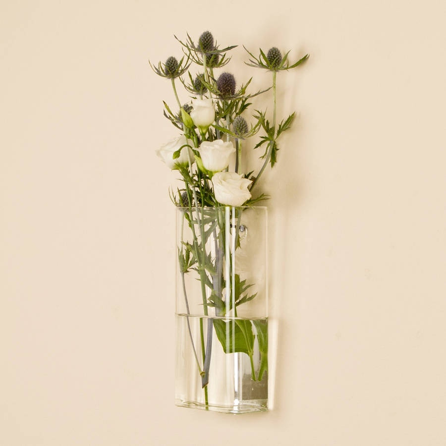 glass flower bud vases of flower wall vase elegant rectangular wall mounted glass vase by regarding flower wall vase elegant rectangular wall mounted glass vase by dibor of flower wall vase elegant