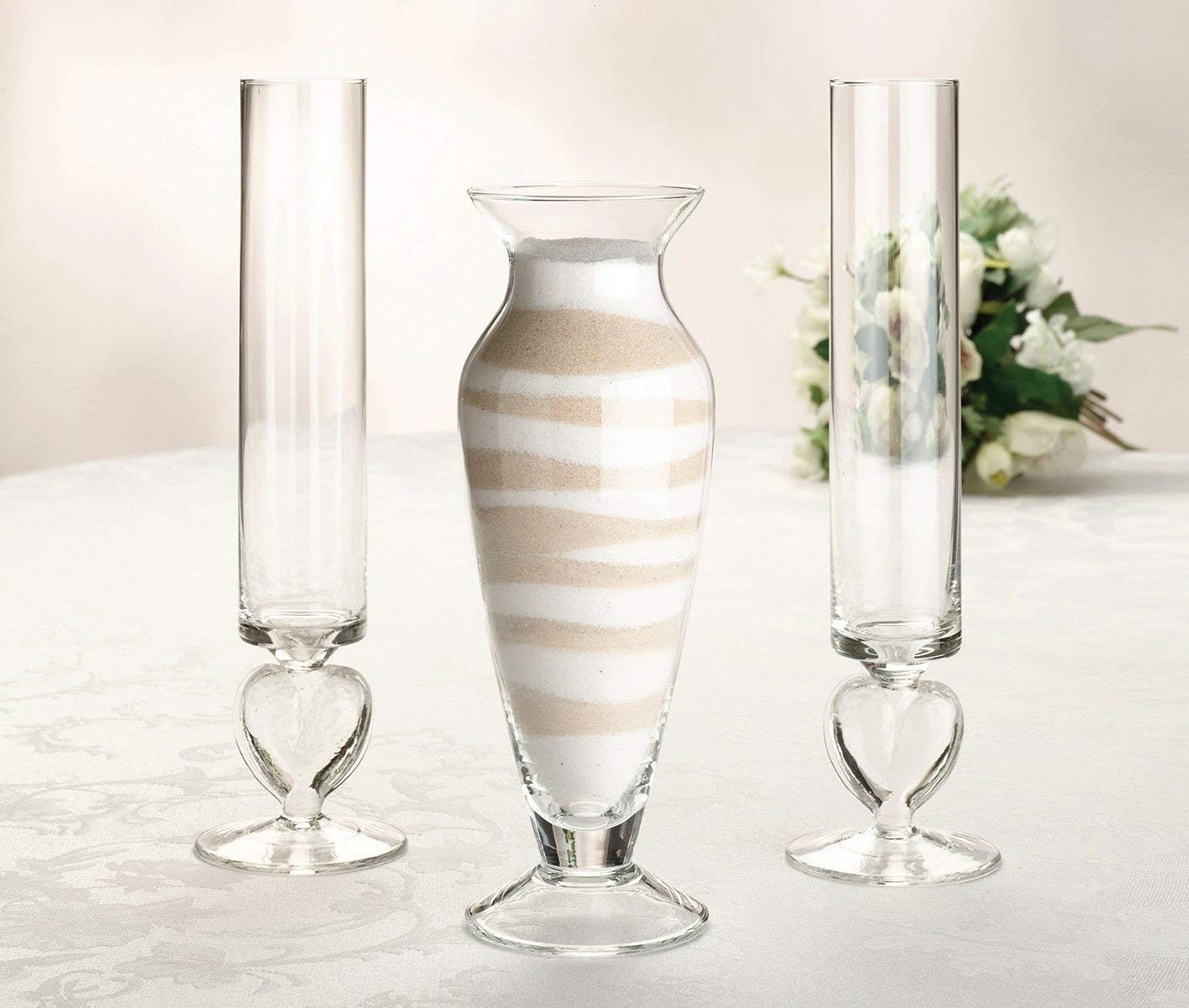 glass heart vase sand ceremony set of amazon com lillian rose unity sand ceremony wedding vase set home pertaining to amazon com lillian rose unity sand ceremony wedding vase set home kitche