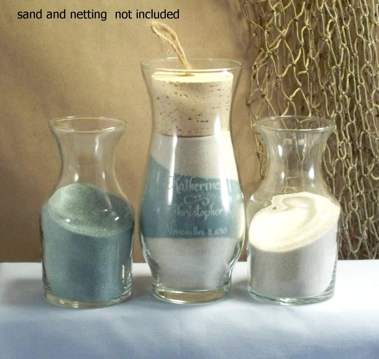 glass heart vase sand ceremony set of amazon com personalized unity sand ceremony style sonora home regarding amazon com personalized unity sand ceremony style sonora home kitchen