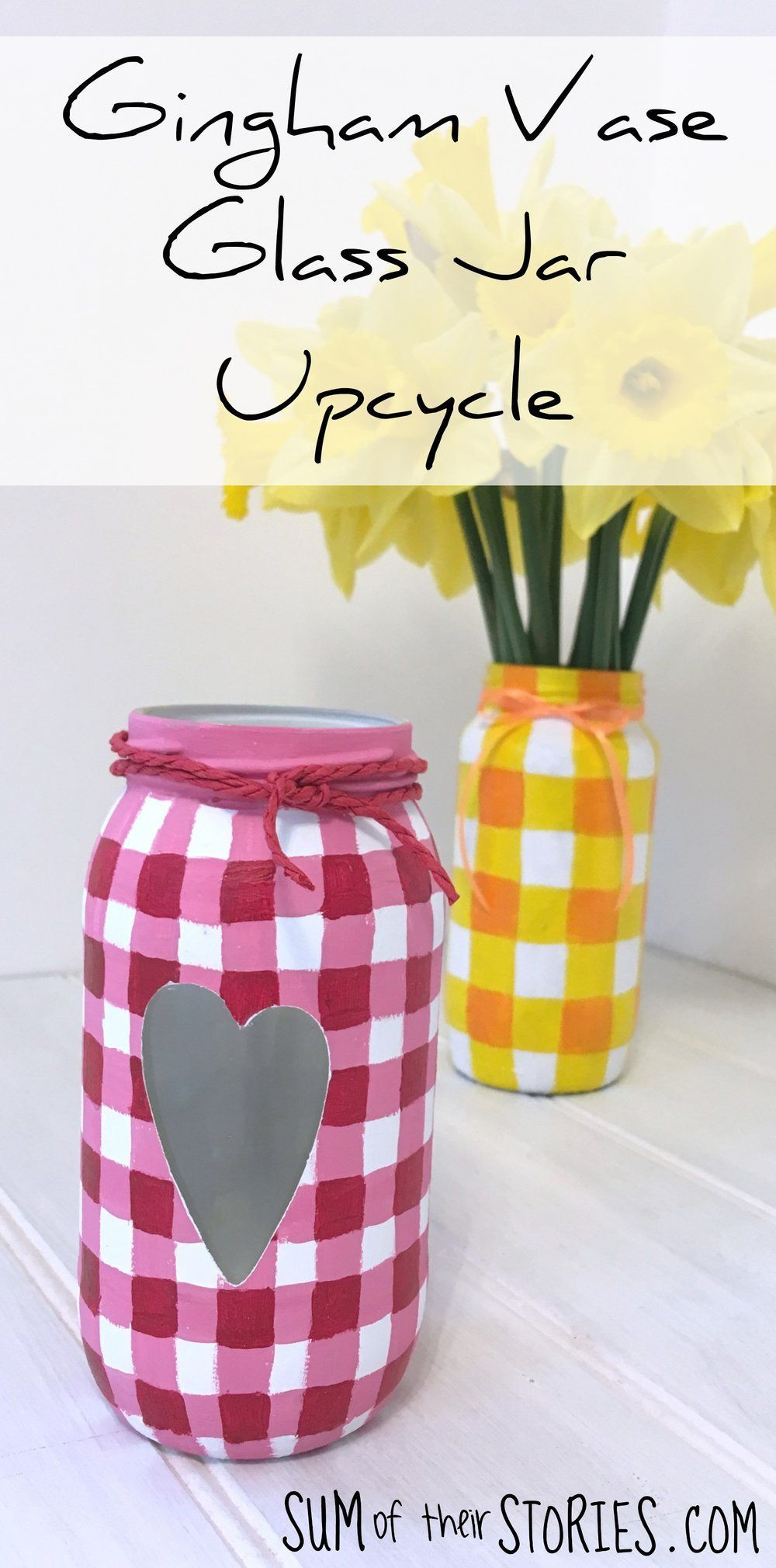 glass jars and vases of gingham vase glass jar upcycle home decorating furniture with gingham vase glass jar upcyle upcycle recycle masonjarcrafts