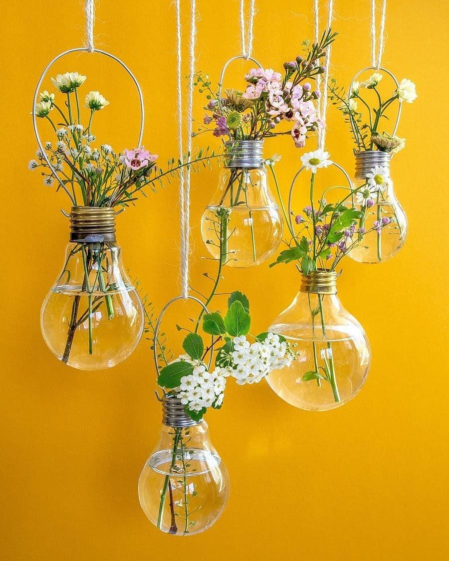 glass light bulb vase of shades of yellow color names for your inspiration shades of yellow throughout yellow flowers flowerclass flowerstagram aesthetic pics aesthetics reposted via elsabella1111