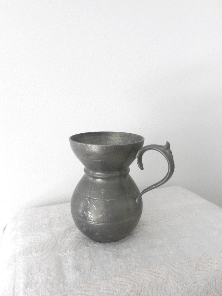 "glass milk jug vase of pewter vase small vintage vase od pewter pewter tankard etsy inside dŸ""Žzoom"