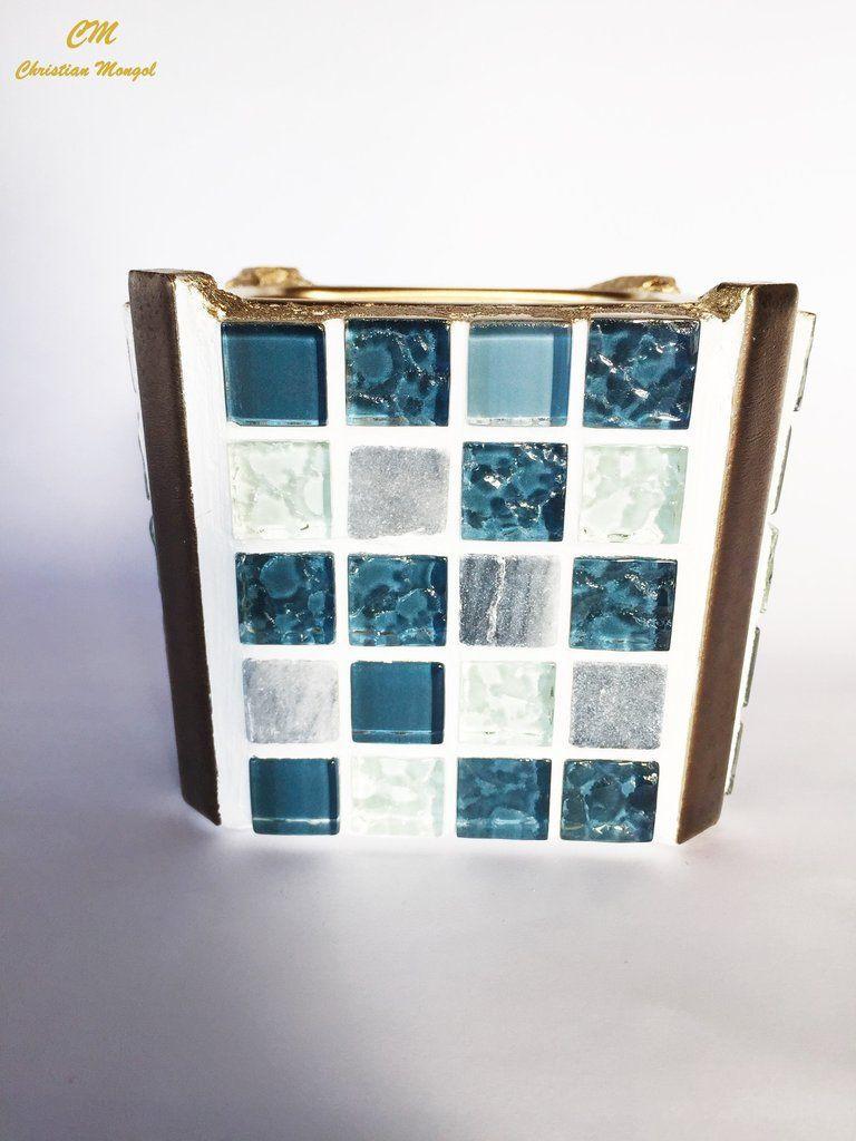 "glass mosaic vases wholesale of christian mongola""¢ tessera gulf glass stone mosaic square regarding christian mongola""¢ tessera gulf glass stone mosaic square centerpiece vase"