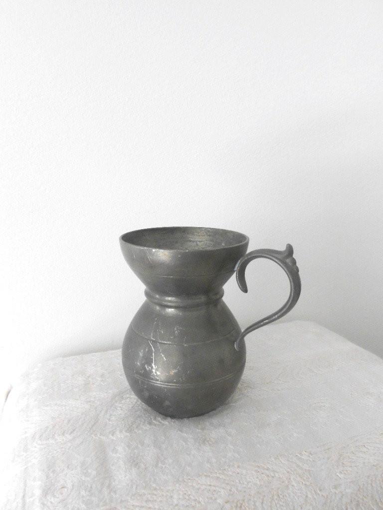 "glass pitcher vase of pewter vase small vintage vase od pewter pewter tankard etsy with dŸ""Žzoom"