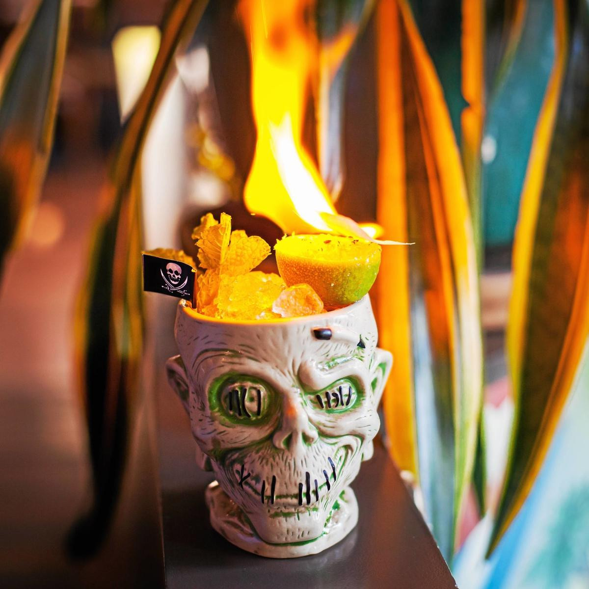 glass skull vase of cheers scare up some halloween cocktails lifestyle inside cheers scare up some halloween cocktails