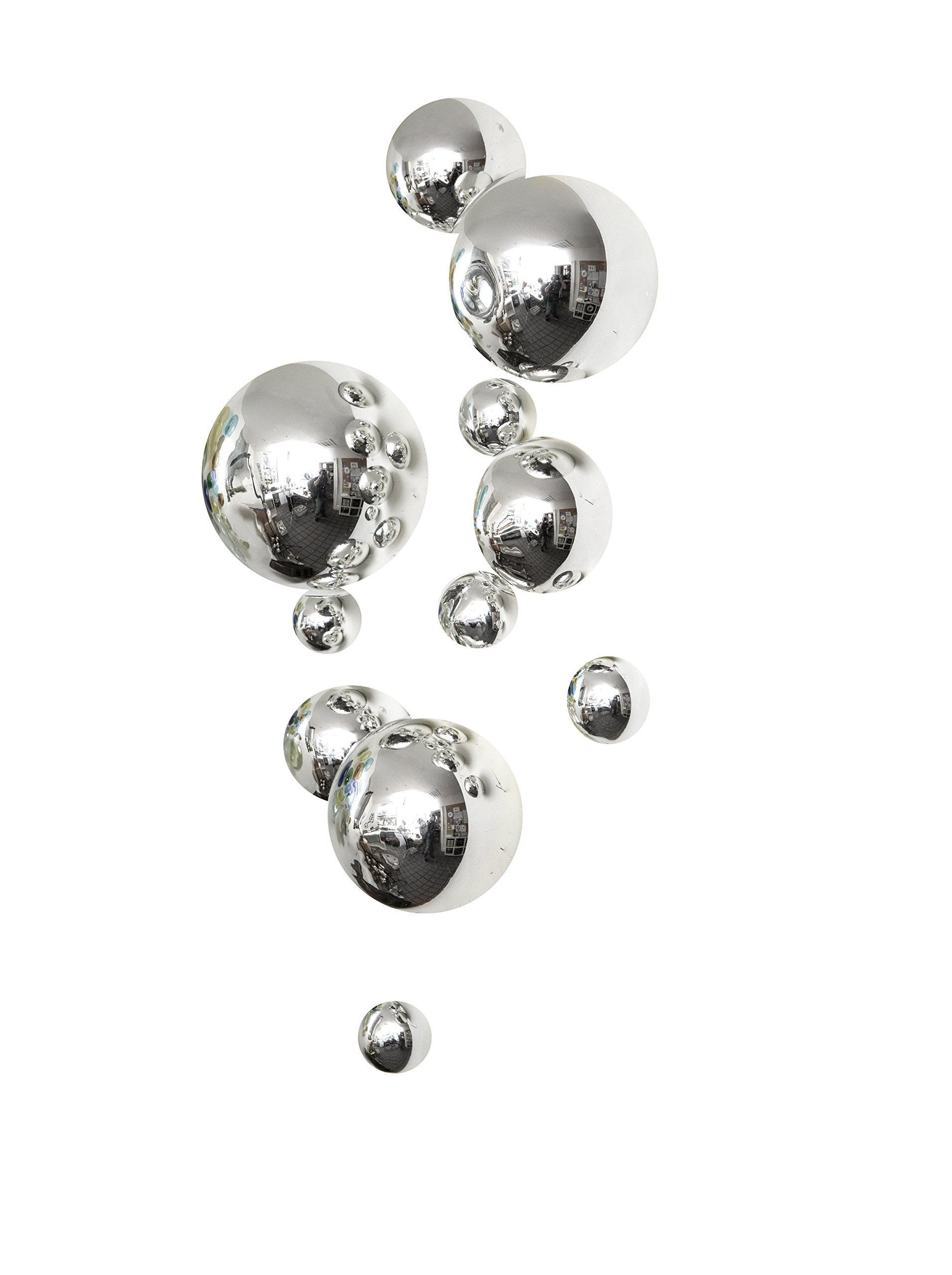 glass sphere vase of worldly goods set of 11 glass wall spheres silver at myhabit home with regard to worldly goods set of 11 glass wall spheres silver at myhabit