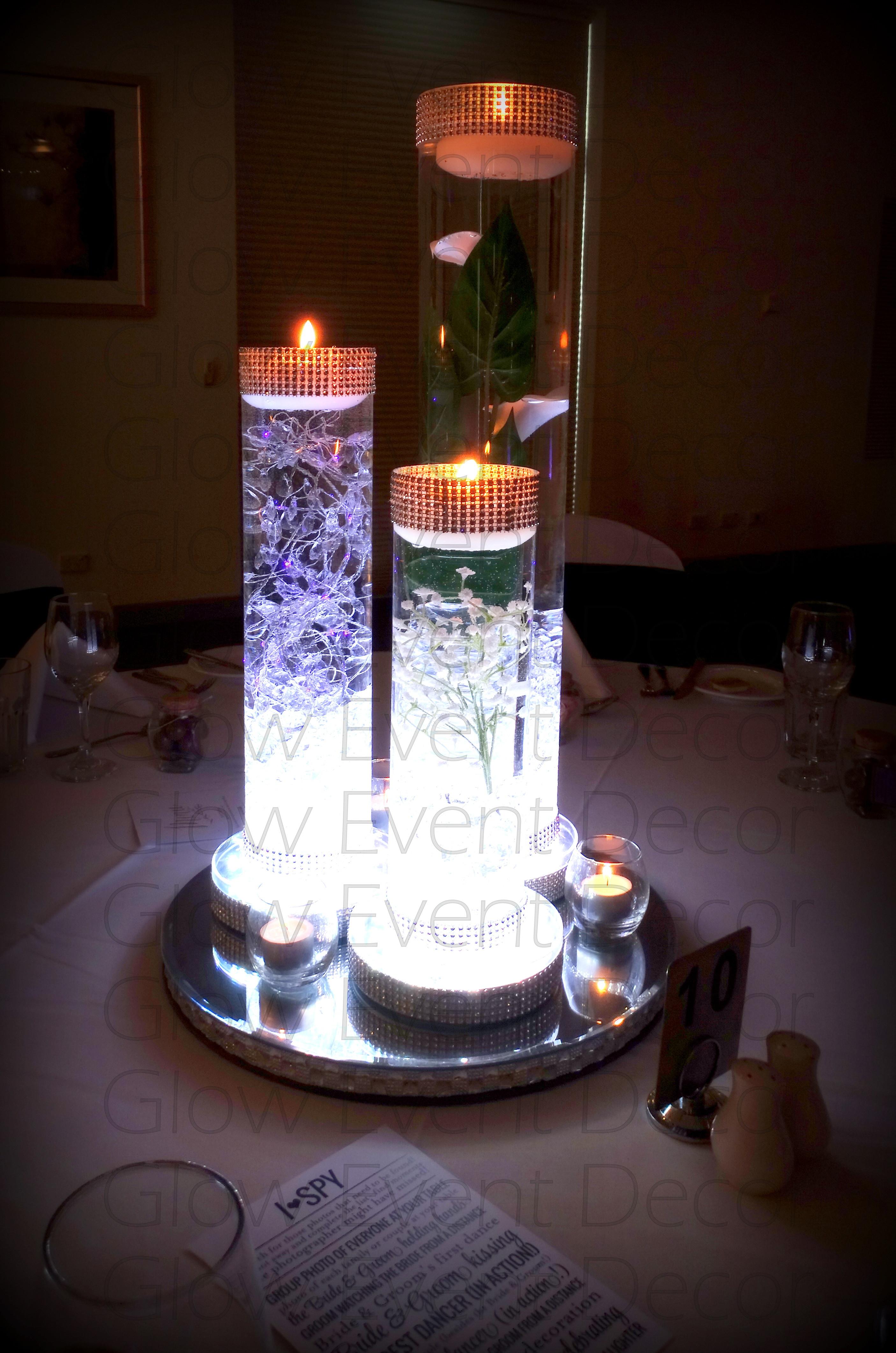 glass vase candle holder of led orchid cylinder vase glow event decor intended for led cylinder vase trio with led light base