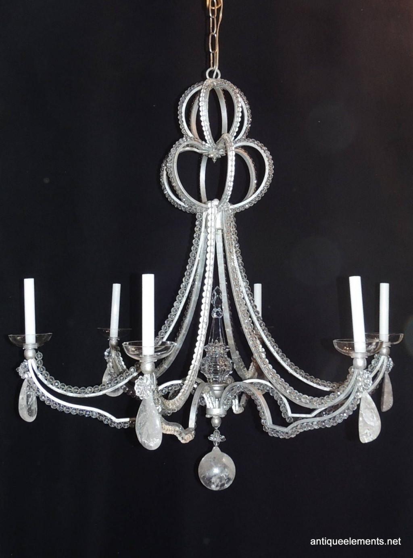 glass vase lamp kit of agha contemporary crystal chandelier agha interiors in image of vintage modern niermann weeks six light beaded rock crystal bagues