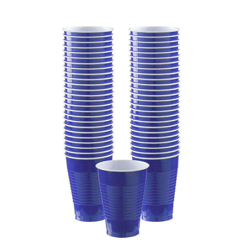 glass vase lamp kit of bogo royal blue plastic cups 50ct 12oz party city in bogo royal blue plastic cups 50ct image 1