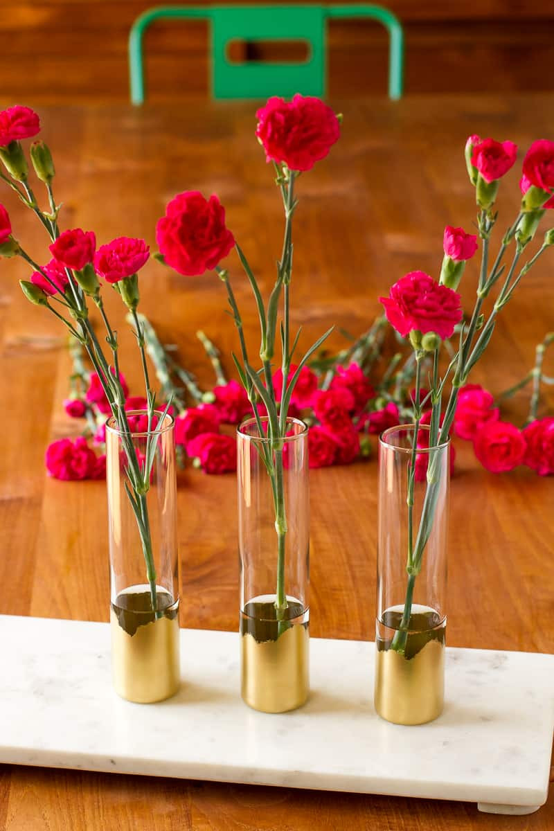 glass vase with gold bottom of gilded gold glass bud vases diy vase idea unsophisticook regarding gilded gold glass bud vases all this simple diy vase idea requires is a