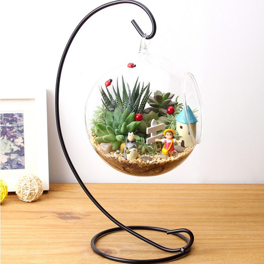 Glass Vase with Iron Stand Of Diy Hydroponic Plant Flower Hanging Glass Vase Container Home Garden Throughout Diy Hydroponic Plant Flower Hanging Glass Vase Container Home Garden Decor Brand New In Vases From Home Garden On Aliexpress Com Alibaba Group