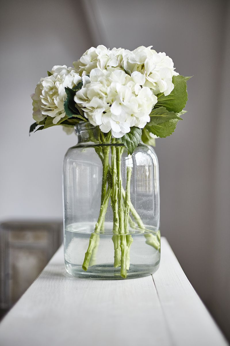 Glass Vase with Iron Stand Of Large Glass Jars Perfect for Displaying Beautiful Hydrangeas with Large Glass Jars Perfect for Displaying Beautiful Hydrangeas Available at Just so