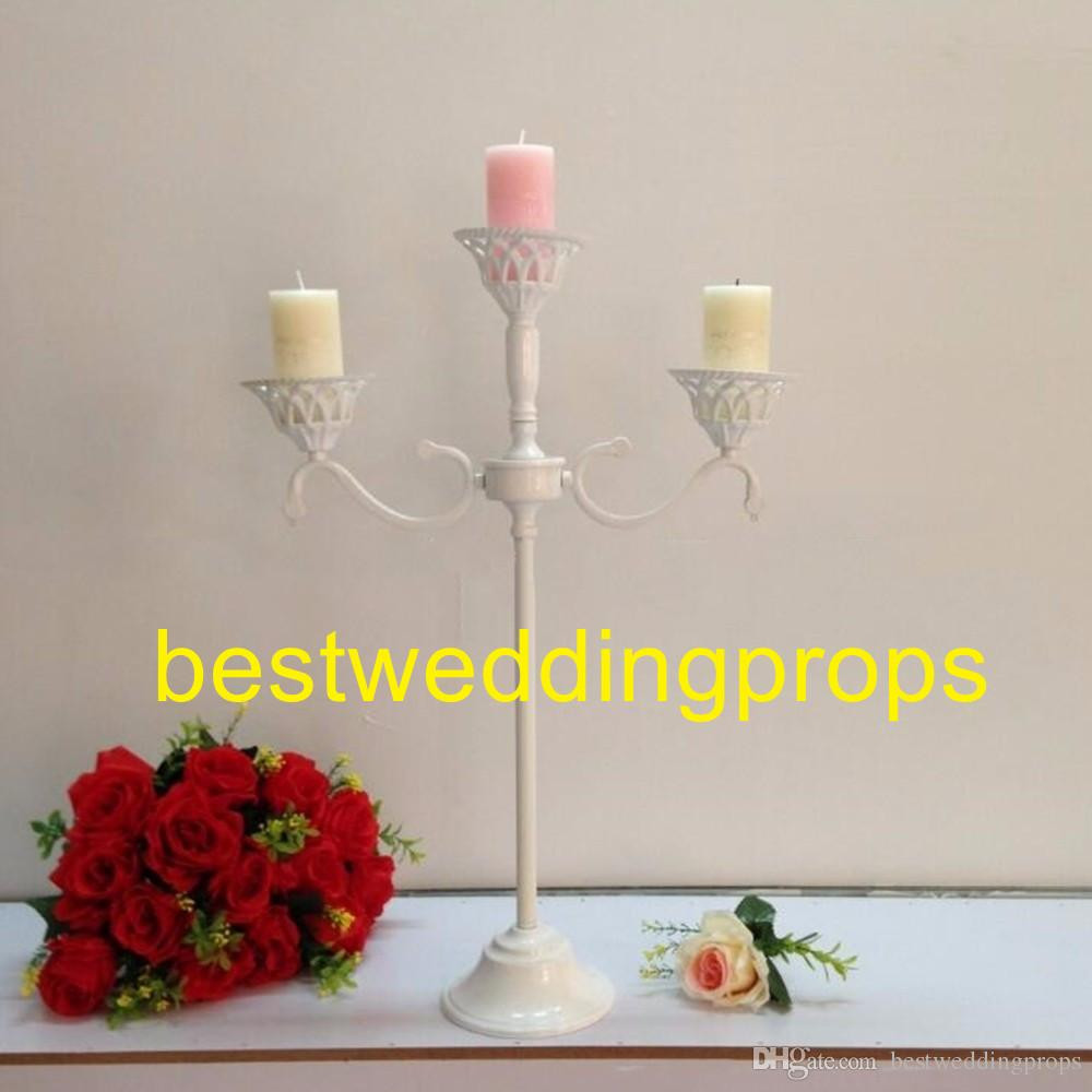 Glass Vase with Iron Stand Of White Metal Candle Holders Flower Vase Rack Candle Stick Wedding with White Metal Candle Holders Flower Vase Rack Candle Stick Wedding Table Centerpiece event Road Lead Candle Stands Best0317 Western Party Decorations Western