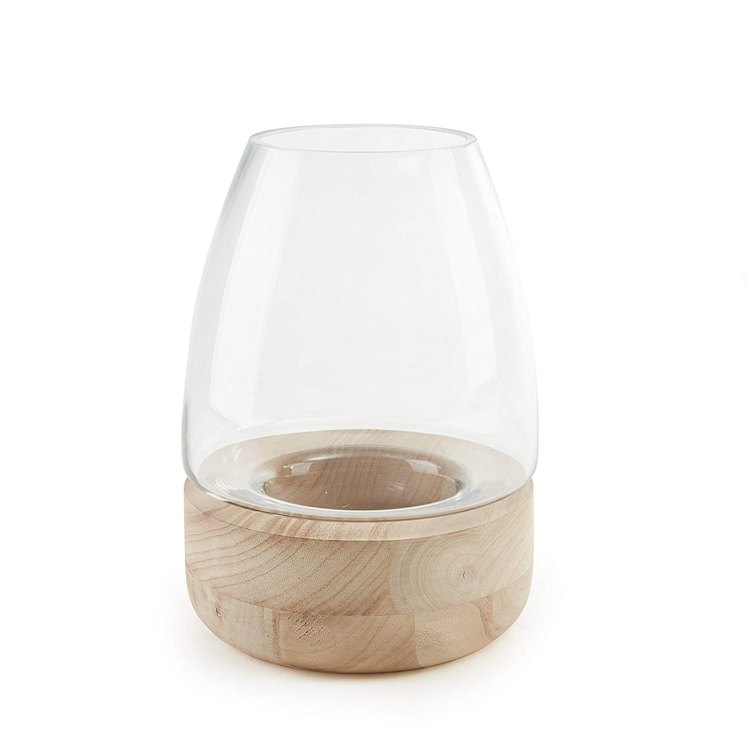 glass vase with wooden base of amazon com danya b bullet glass vase candle holder on wooden stand with regard to amazon com danya b bullet glass vase candle holder on wooden stand home kitchen