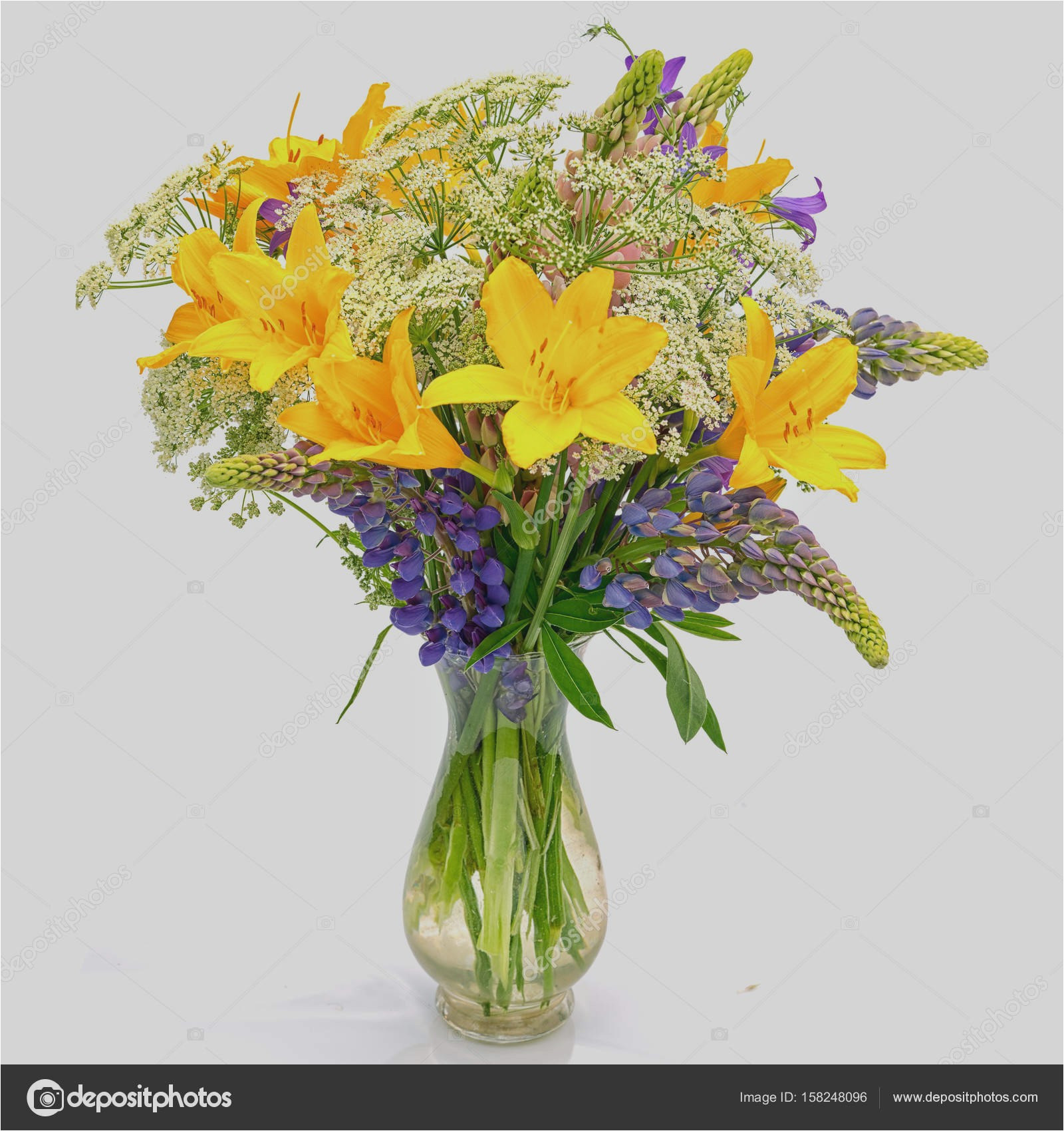 Glass Wall Vase for Flowers Of New Flowers Yellow Suthep Photo Galery In Yellow Glass Vase Photograph Bouquet Od Wild Flowers Achillea Millefolium Day Lily and Lupine Of Yellow
