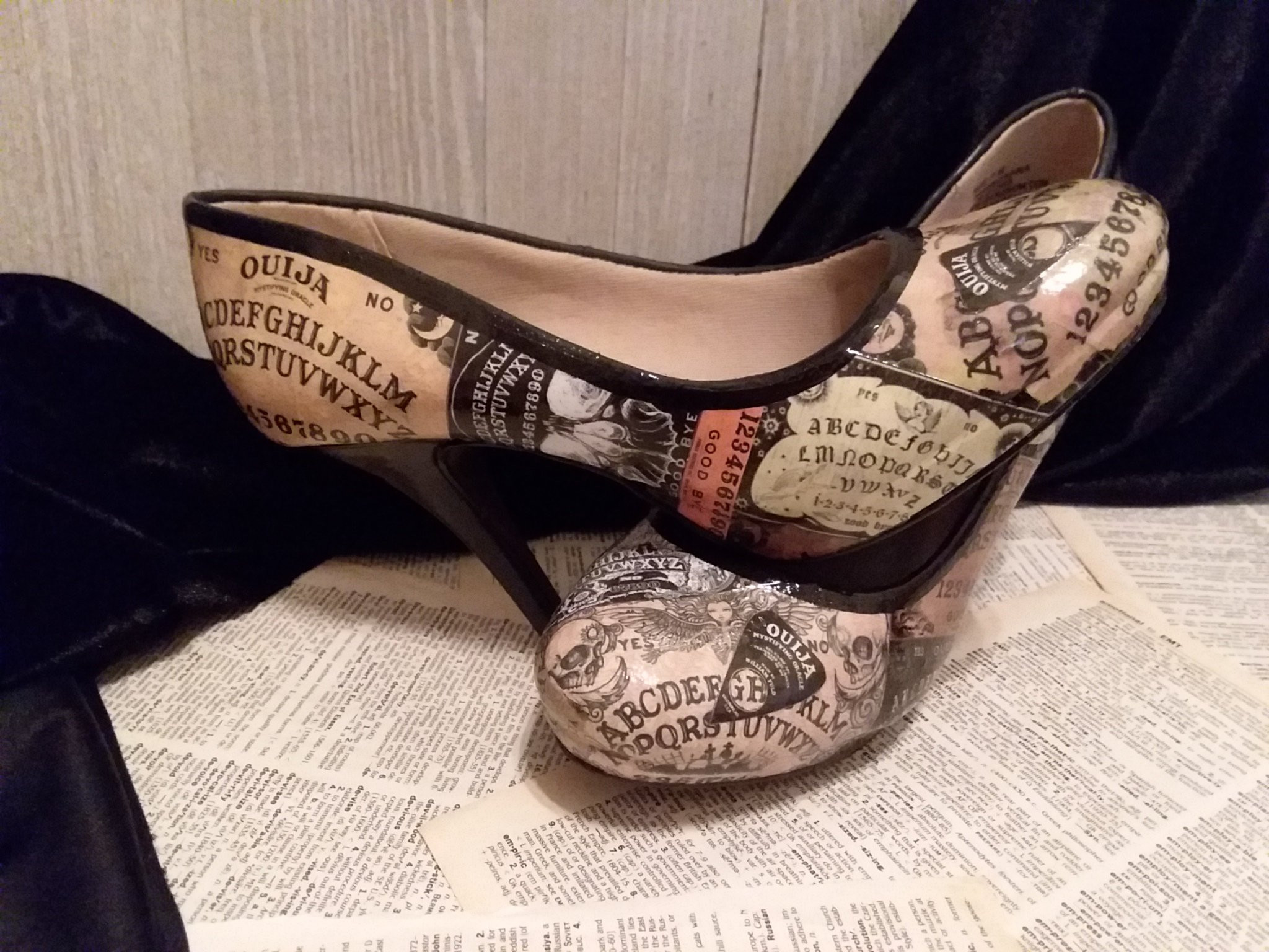"glitter high heel bud vase of ouija board heels ouija heels ouija shoes halloween wedding etsy regarding dŸ""Žzoom"