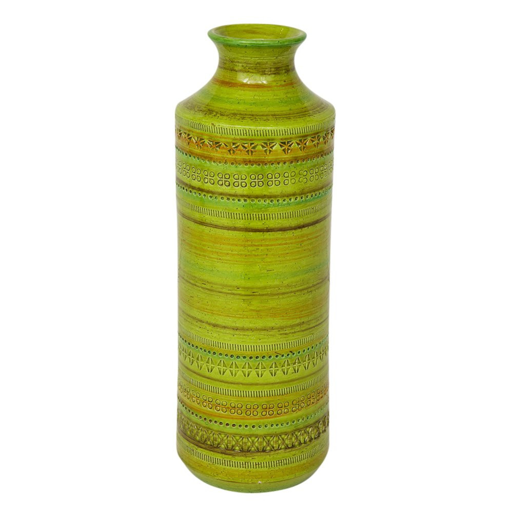 global views green vase of bitossi ceramic vase rosenthal netter chartreuse signed italy 1960s with regard to bitossi ceramic vase rosenthal netter chartreuse signed italy 1960s for sale at 1stdibs