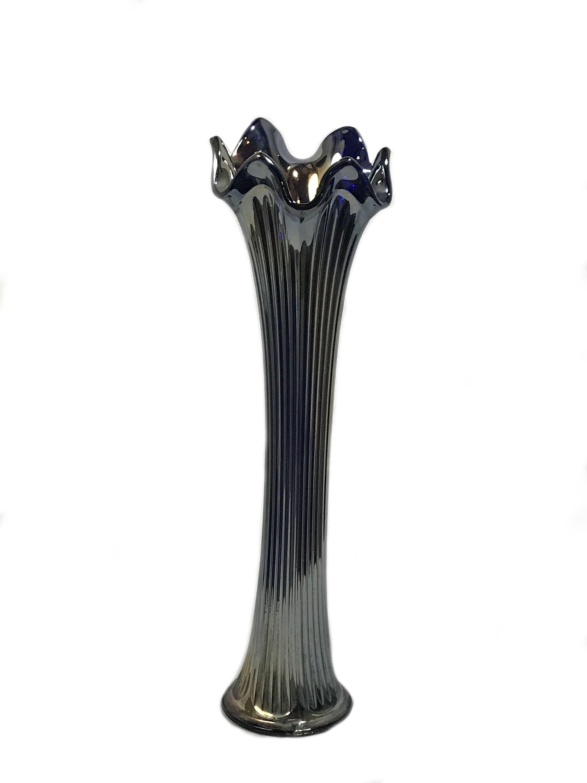 gold carnival glass vase of cobalt blue stretch carnival glass vase imperial fine ribbed inside now selling cobalt blue stretch carnival glass vase imperial fine ribbed stretch carnival glass