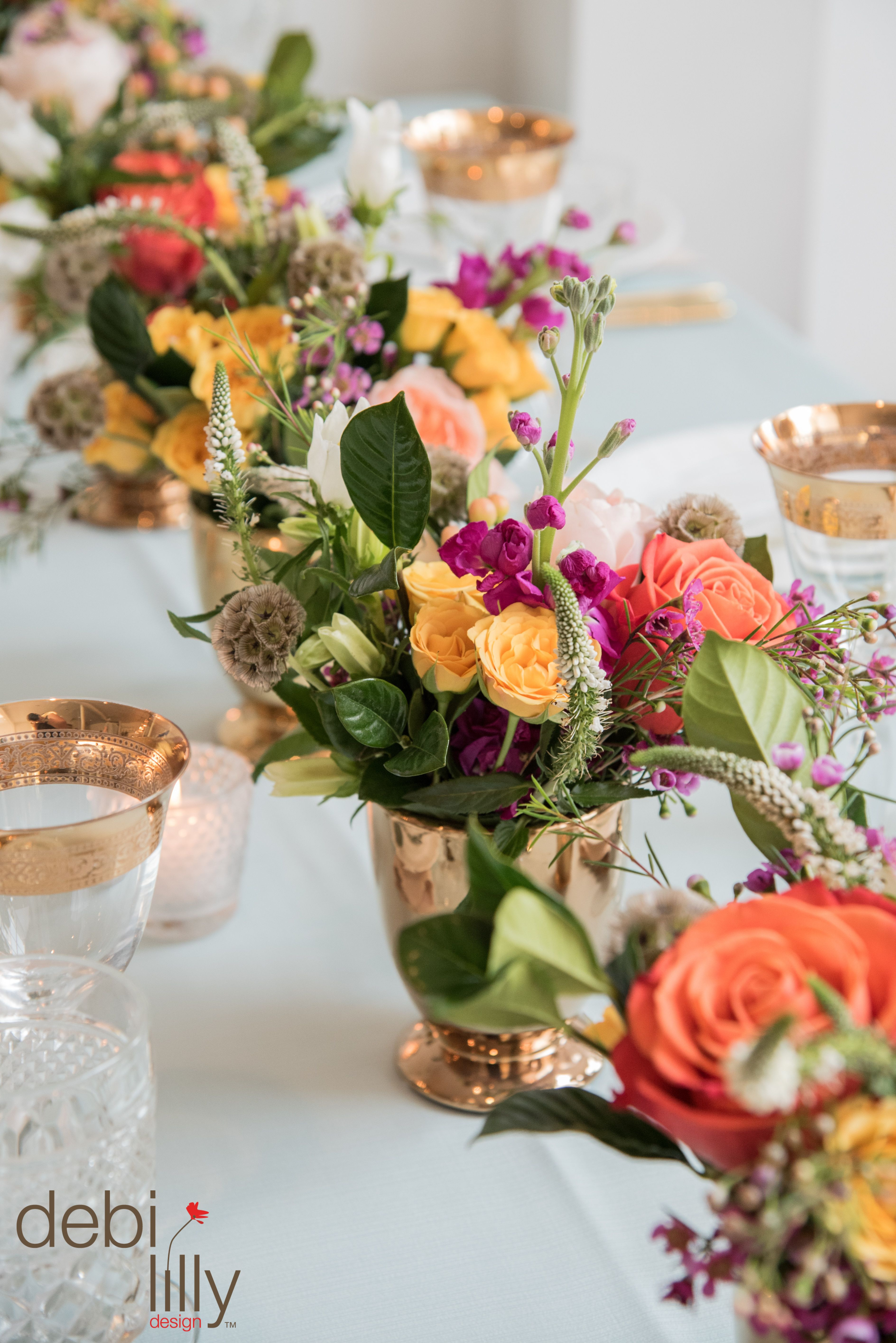 gold colored vases of dont be afraid of color this holiday season pair bright flower regarding dont be afraid of color this holiday season pair bright flower arrangements with
