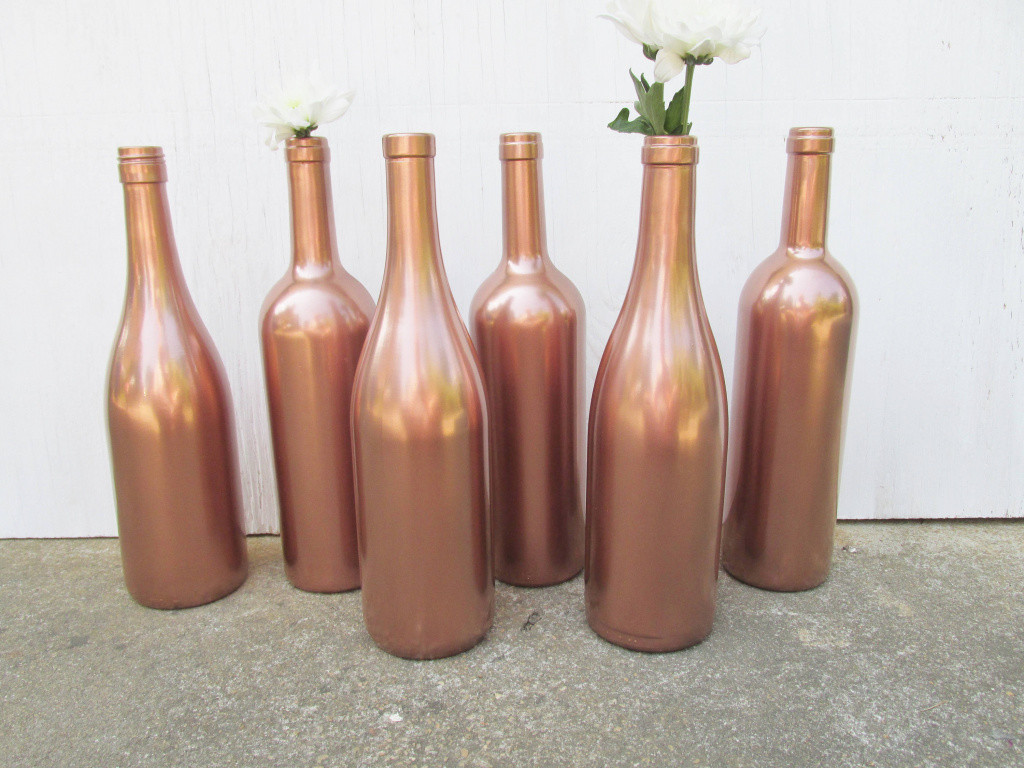 gold glass vase of inspirational painted wine bottle flower vases matallic rose gold with inspirational painted wine bottle flower vases matallic rose gold set of of inspirational painted wine bottle