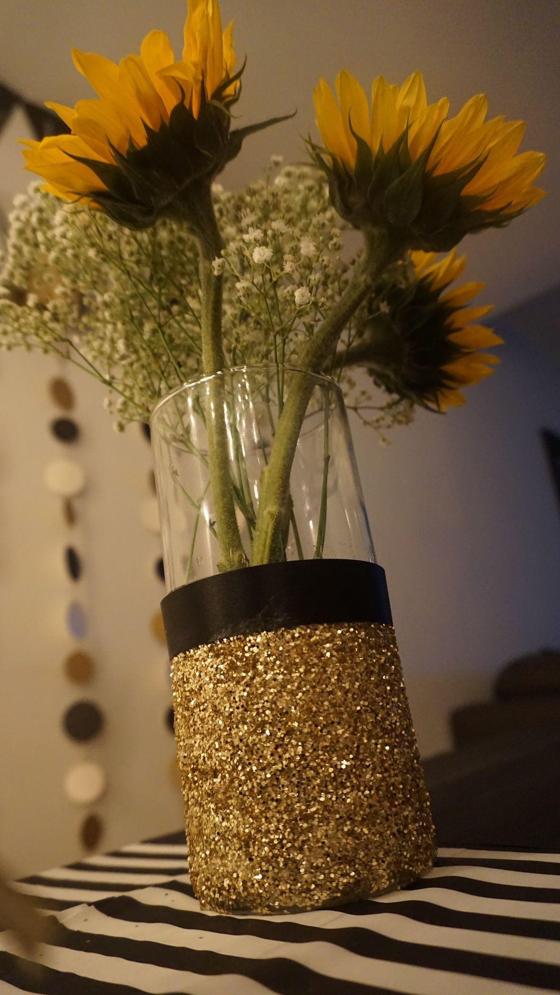 Gold Glitter Vase Of Gold Glitter Vases Photograph Diy Gold Glitter Vase Black White and Pertaining to Diy Gold Glitter Vase Black White and Gold Birthday Party