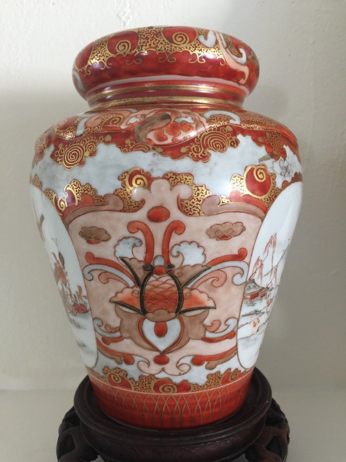 gold imari hand painted vase of kutani imari satsuma ginger jar tea caddy tea caddy and museums intended for kutani imari satsuma ginger jar tea caddy ebay