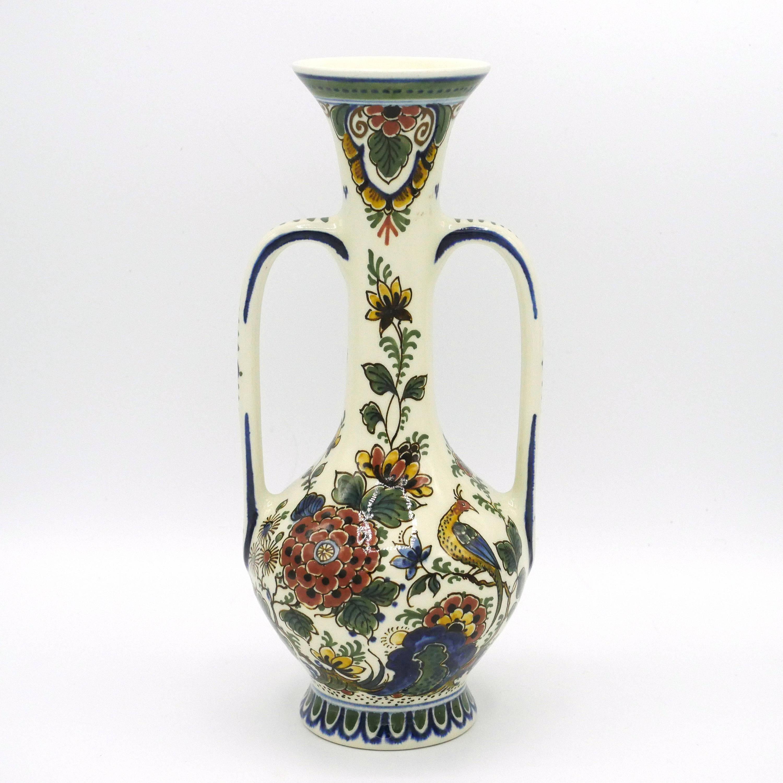"gold imari vase of delft polychrome vase long neck flower vase hand painted etsy pertaining to dŸ""Žzoom"