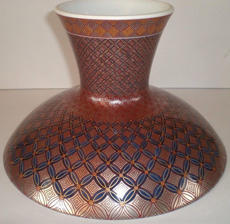 gold imari vase of genki kunihiko contemporary japanese imari porcelain bowl on intended for genki kunihiko contemporary japanese imari porcelain bowl on pedestal for sale at 1stdibs