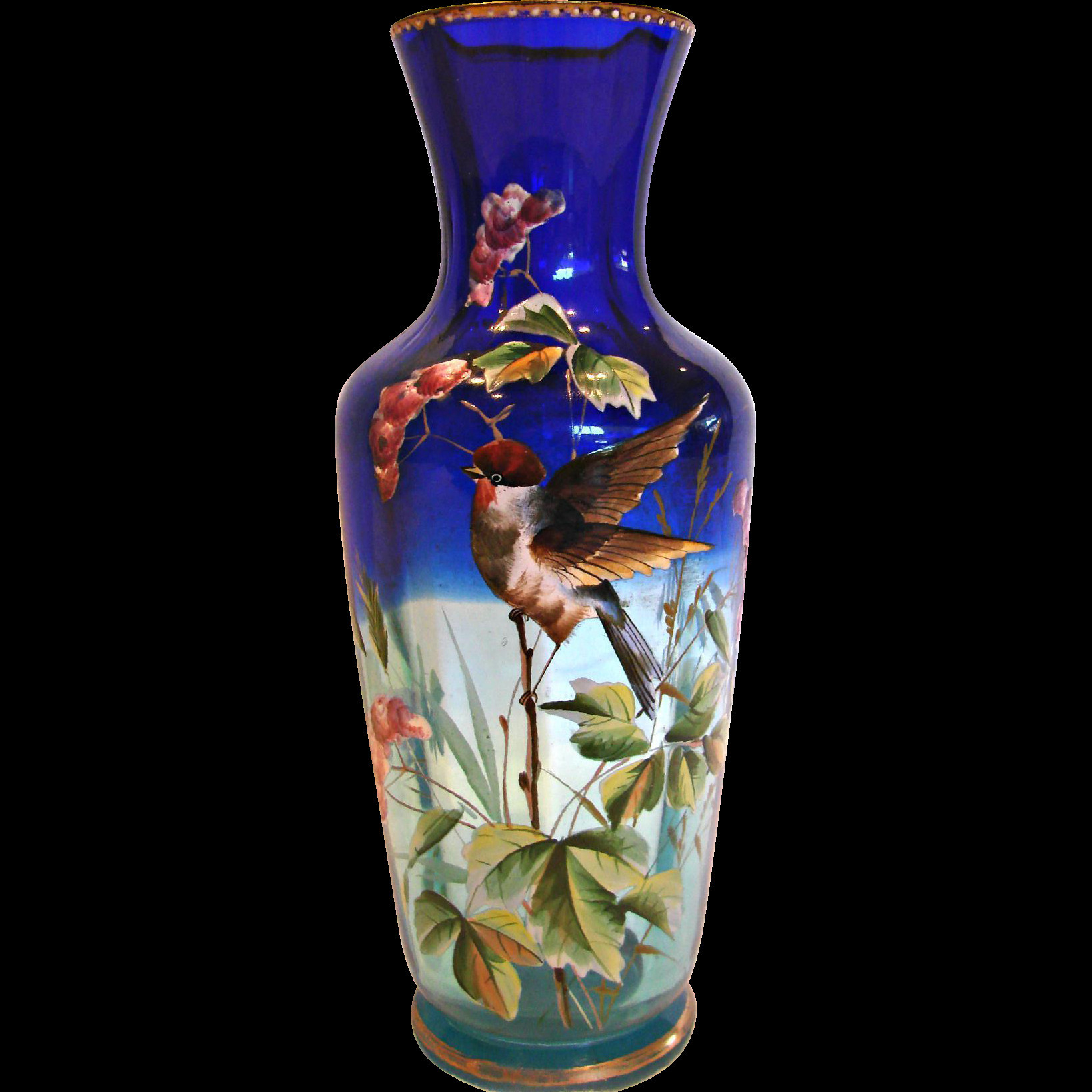 Gold Imari Vase Value Of 20 Inspirational Antique Decorative Glass Vases Intended for Bohemian Shaded Blue Clear Art Glass Vase Enameled Bird C 1880